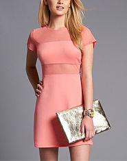 Love Mesh Tea Dress