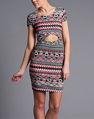 Ribbon Aztec Half Moon Dress