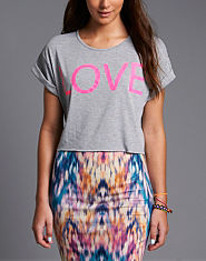 BLONDE & BLONDE LOVE Cropped T-Shirt