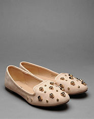 Bank Avril Skull Stud Slipper Pumps