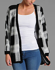 Red or Dead Orloff Checked Cardigan