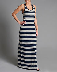 BLONDE & BLONDE Striped Maxi Dress