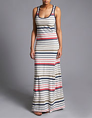 BLONDE & BLONDE Multi Stripe Maxi Dress