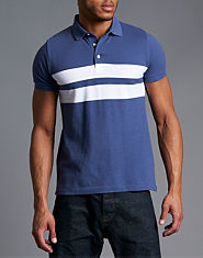 French Connection Block Stripe Polo Shirt