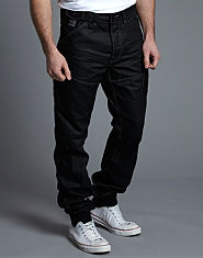 Voi Jeans Budgee Coated Cuffed Worker Jeans