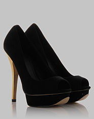Kitsch Couture Holly Peeptoe Heels