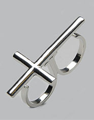 Daisy Rae Double Finger Cross Ring