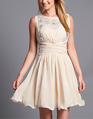 Little Mistress Embellished Chiffon Dress