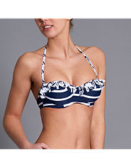 Bank Nautical Stripe Bikini Top