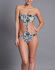 Bank Aztec Cut Out Swimsuit