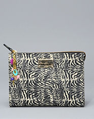 Pauls Boutique Zebra Print Cosmetic Bag