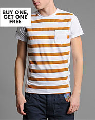 Jack & Jones Coin Hooped T-Shirt