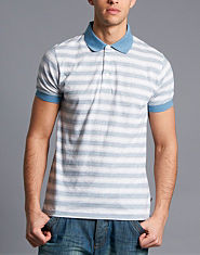 French Connection Striped Polo Shirt