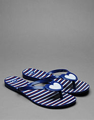 Mel By Melissa Honey Heart Flip Flops