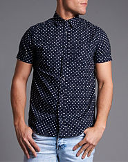 Brave Soul Gallagher Polka Dot Shirt