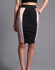 Tulisa TFB High Waist Panelled Pencil Skirt