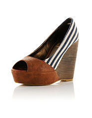 Kitsch Couture Heidi Stripe Wedge