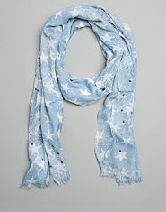 Bank Star Stud Scarf