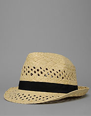 Bank Straw Trilby Hat