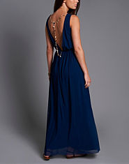 Rare Jewel Back Maxi Dress