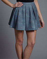 Red or Dead Getham Skater Skirt