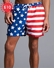 Outcast USA Flag Swim Shorts
