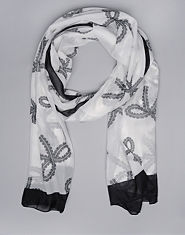 Bank Lace Bow Scarf