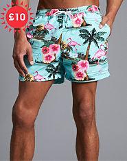Outcast Flamingo Swim Shorts