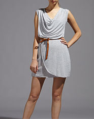 Wal G Speckled Belted Dress