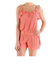 Ribbon Washed Playsuit