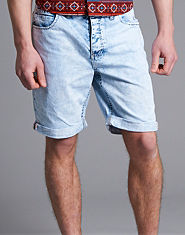 Nanny State Helders Bleach Denim Shorts