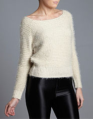 BLONDE & BLONDE Eyelash Ribbed Jumper