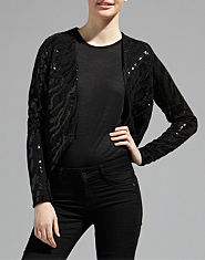 Ribbon Luxe Sequin Blazer