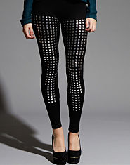 Ribbon Luxe Studded Leggings