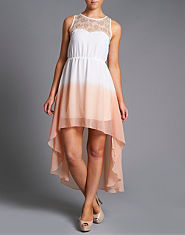 Ribbon Dip Dye Hi Lo Dress