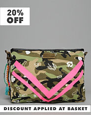Pauls Boutique Kiera Camouflage Clutch Bag