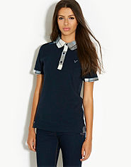 Voi Jeans Ellis Check Pocket Polo Shirt