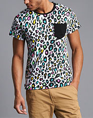 Beck and Hersey Reversible Leopard Print Tiger T-Shirt