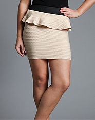 Lipsy Ripple Peplum Skirt