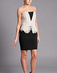 Lipsy Lasercut Bandeau Dress