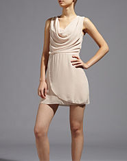 Wal G Drape Front Dress