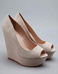Kitsch Couture Suedette Wedge