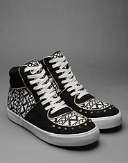 Bank Geo Stud Hi Tops