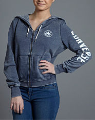 Converse Burnout Full Zip Hoody