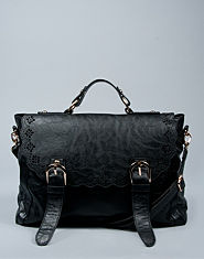 Bank Scallop Laser Cut Satchel Bag