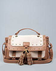 Bank Studded Satchel Bag