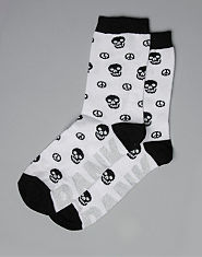 Bank Peace Skull Socks