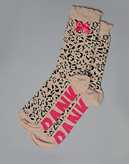 Bank Leopard Print Socks