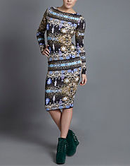 Lipsy Jewel Print Bodycon Dress