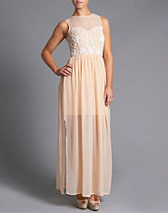 Lipsy Beaded Detail Maxi Dress